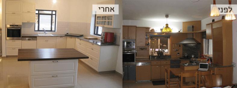 חידוש דלתות מטבח